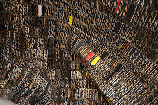 El Anatsui, Black Block (detail)